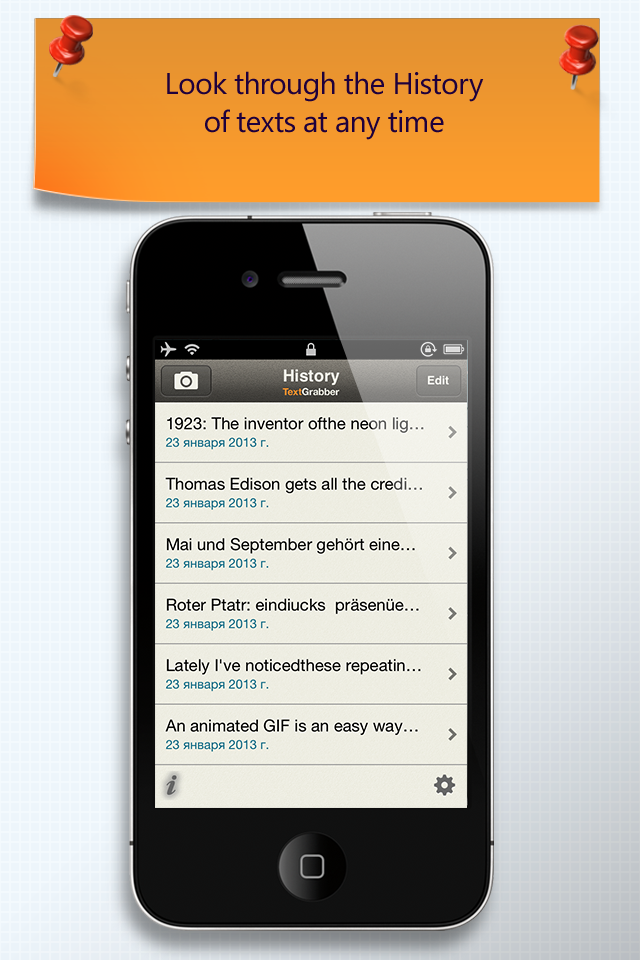 TextGrabber + Translator iPhone